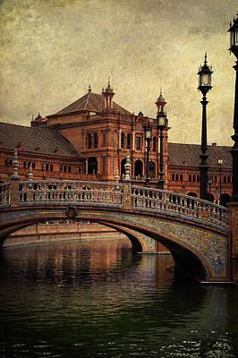 Plaza De Espana 5. Seville Poster by Jenny Rainbow