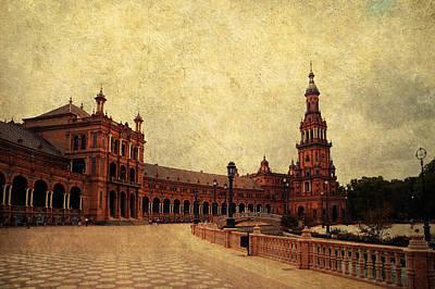Plaza De Espana 7. Seville Poster by Jenny Rainbow