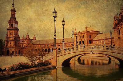 Plaza De Espana 9. Seville Poster by Jenny Rainbow