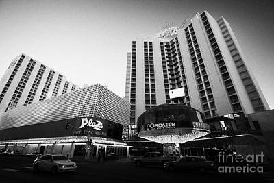 plaza hotel and casino downtown Las Vegas Nevada USA Poster by Joe Fox