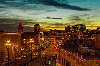Plaza Lights At Sunset Poster by Steven Bateson