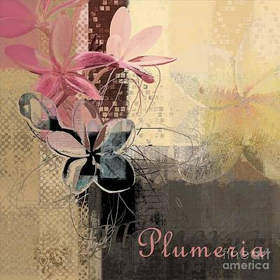 Plumeria - 64-115152167m4t3b Poster by Variance Collections