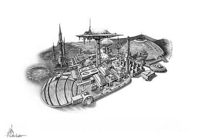 Pluto City Poster by Murphy Elliott