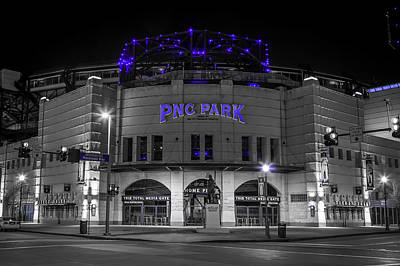 Pnc Park In Blue Poster by John Duffy