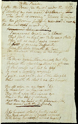 Poem Of William Wordsworth Poster by British Library