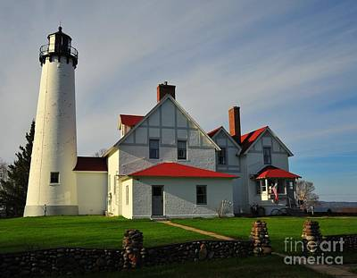 Point Iroquois Lighthouse Poster by Terri Gostola