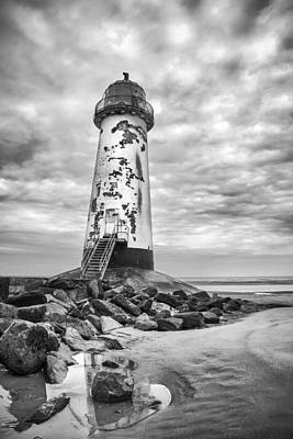 Point Of Ayr Lighthouse Poster by Christine Smart