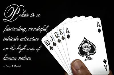 Poker Is . . . Poster by Daniel Hagerman
