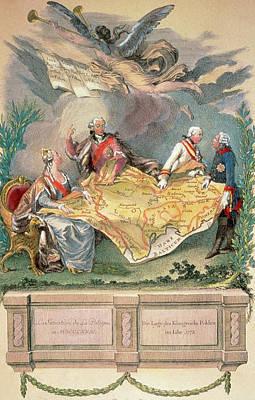 Poland  Xviii Century Allegory Poster by Prisma Archivo