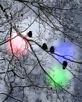 Polar Crows Poster by Gothicolors Donna Snyder