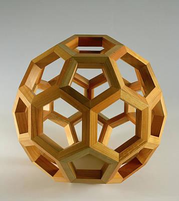 Polyhedron Wood Poster by Italian School