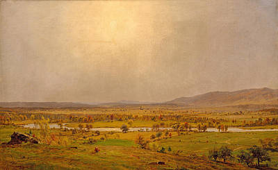 Pompton Plains. New Jersey Poster by Jasper Francis Cropsey