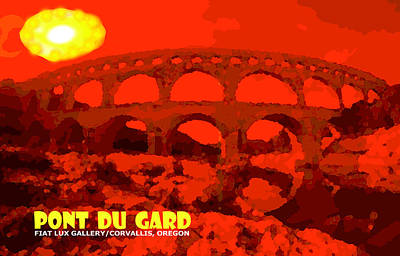 Pont Du Gard Poster by Mike Moore FIAT LUX