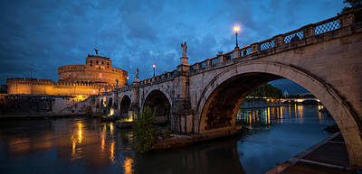 Ponte Santangelo Over River Poster by Panoramic Images