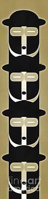 Pop Art People Totem 5 Poster by Edward Fielding