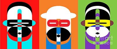 Pop Art People Trio Poster by Edward Fielding