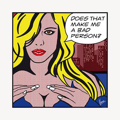 Pop Art Porn Stars - Lindsay Marie Poster by Chungkong Art