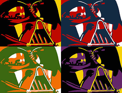 Pop Art Vader Poster by Dale Loos Jr