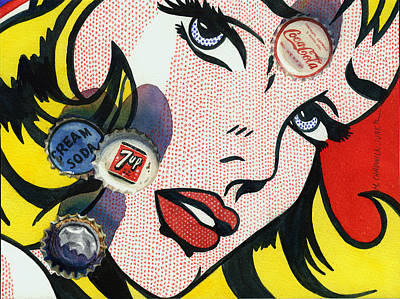 Pop Caps And Pop Art II Poster by Marguerite Chadwick-Juner