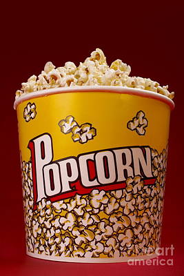 Popcorn Bucket Poster by Diane Diederich