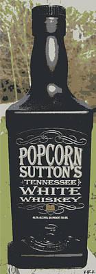 Popcorn's Wiskey Poster by Jacob Kirk
