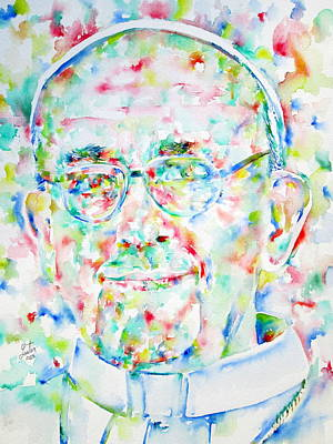 Pope Francis Watercolor Portrait Poster by Fabrizio Cassetta
