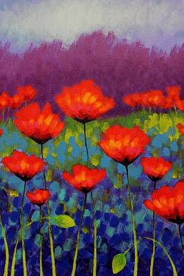 Poppy Meadow   Cropped Poster by John  Nolan