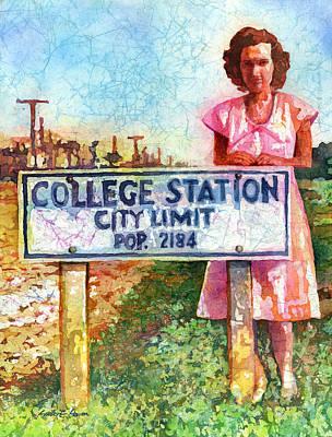 Population 2184 Poster by Hailey E Herrera
