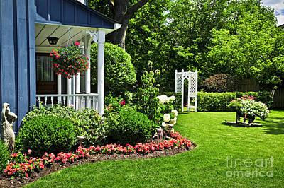 Porch And Garden Poster by Elena Elisseeva