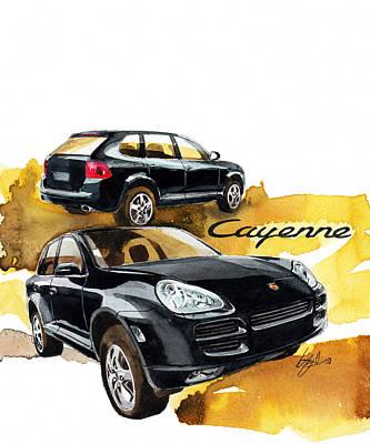 Porsche Cayenne Poster by Yoshiharu Miyakawa