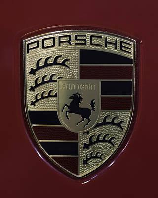 Porsche Emblem Poster by Sebastian Musial