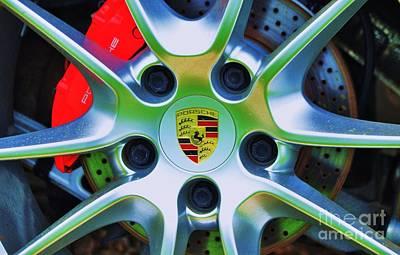 Porsche Wheel Poster by Marcus Dagan