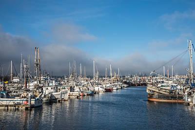 Port Of Seattle Fishermen's Terminal Poster by Denise Lett