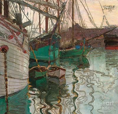 Port Of Trieste Poster by Egon Schiele