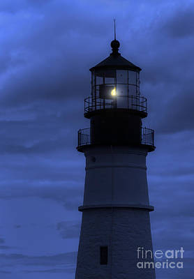 Portland Head Lighthouse Silhouette Poster by Diane Diederich