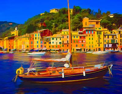Portofino Italy Poster by Wally Hampton