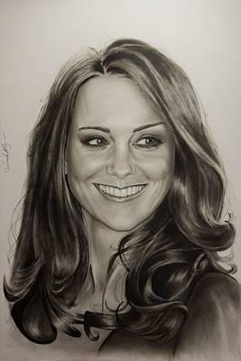 Portrait Kate Middleton Poster by Natalya Aliyeva
