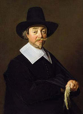 Portrait Of A Man, C.1643-45 Poster by Frans Hals