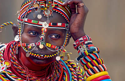 Portrait Of A Samburu Maiden Poster by Panoramic Images