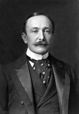 Portrait Of August Belmont Jr. Poster by Underwood Archives