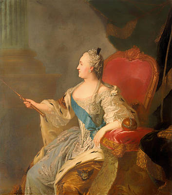 Portrait Of Catherine II Poster by Mountain Dreams