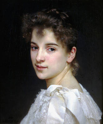 Portrait Of Gabrielle Cot Poster by William Bouguereau