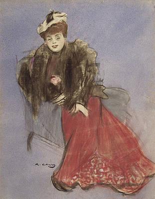 Portrait Of Gabrielle Rejane Poster by Ramon Casas