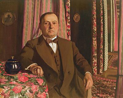 Portrait Of Georg E. Haasen, 1913 Oil On Canvas Poster by Felix Edouard Vallotton