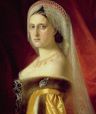 Portrait Of Grand Duchess Maria Nikolaevna Poster by Russian School