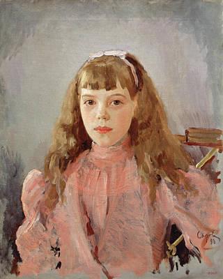 Portrait Of Grand Duchess Olga Alexandrovna 1882-1960 1893 Oil On Canvas Poster by Valentin Aleksandrovich Serov