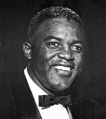 Portrait Of Jackie Robinson Poster by Underwood Archives