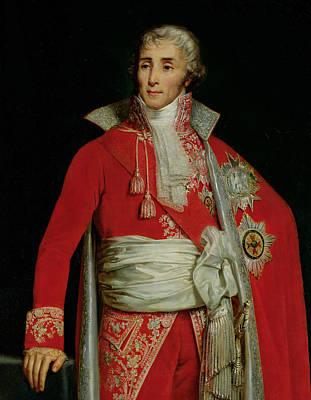 Portrait Of Joseph Fouche Duke Of Otranto Poster by Edouard Louis Dubufe