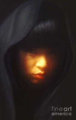 Portrait Of Li Poster by Jeff Breiman