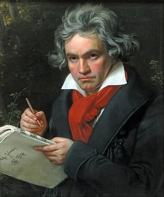 Portrait Of Ludwig Van Beethoven  Poster by Joseph Karl Stieler